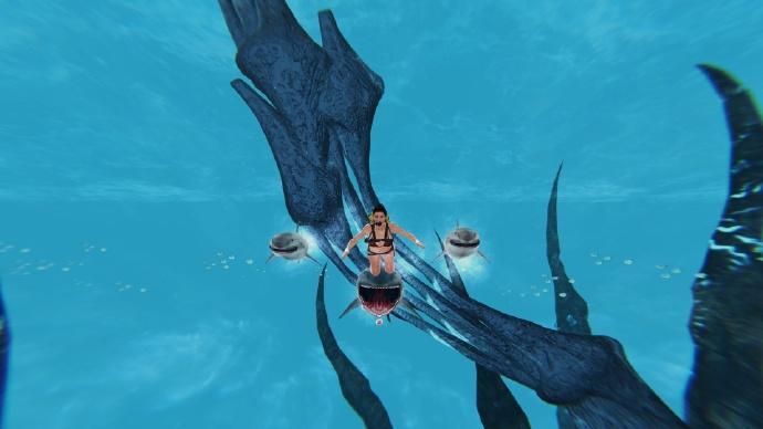 Deep Fear 海底版的糟糕 Temple Run 与比基尼潜水员